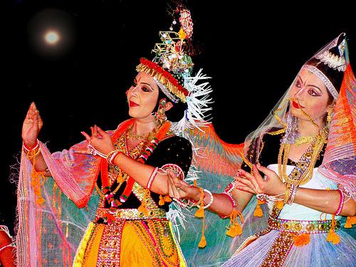 Ras lila in north India, Ras leela in Manipur, sharad purnima celebration in India