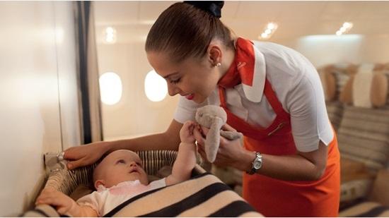 etihad airways's inflight services, flying nanny service on eithad flights, etihad flight services for children
