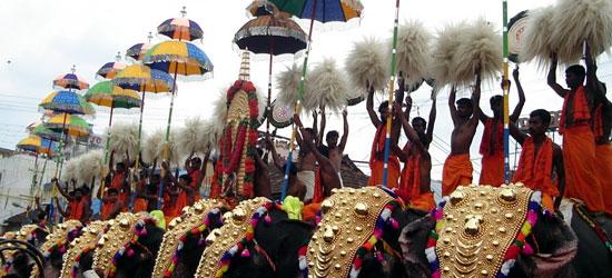 Kerala festivals, kerala travels, winter festivals of India in December
