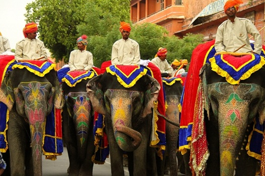 jaipur teej festival procession, jaipur tourist attractions, Indian Eagle travel blog, cheap flights to India