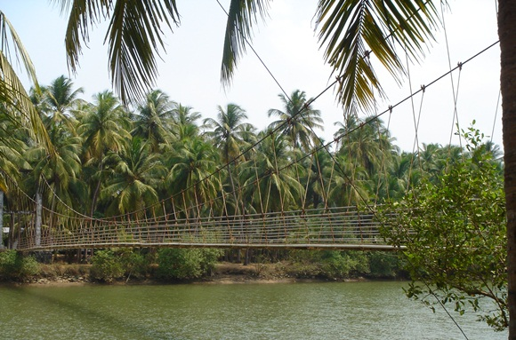 hanging bridge in Tonse Karnataka