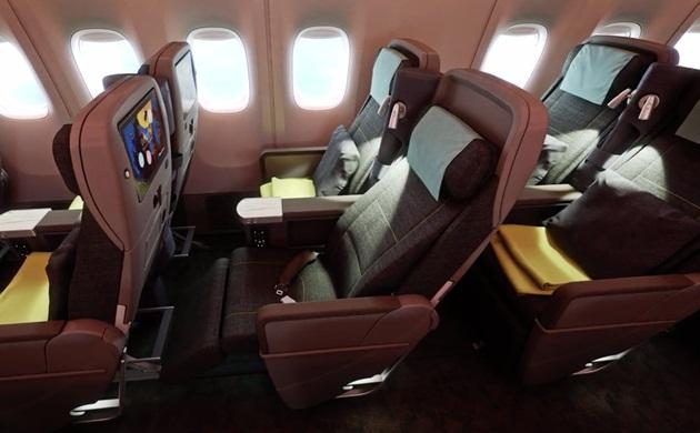 china airlines B777-300ER Premium Economy Cabin details, seats in China Airlines' premium economy,