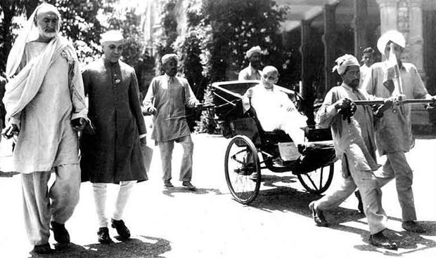 hand-pulled rickshaw in Shimla, history of hand-pulled rickshaws in British India