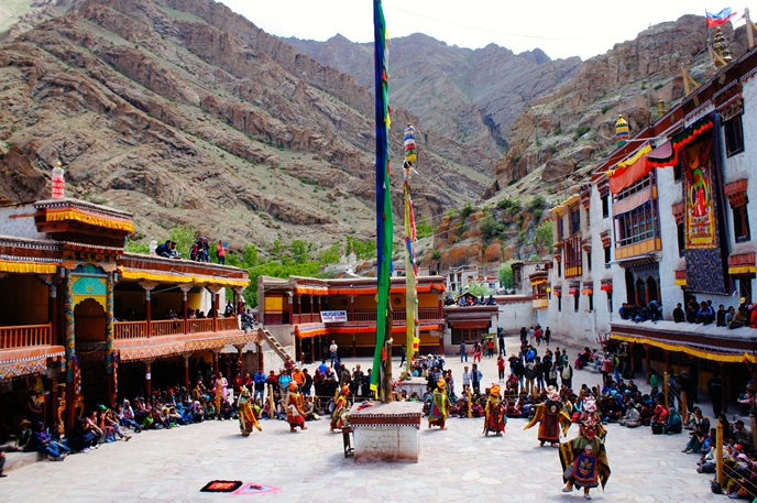 Festivals of India, Ladakh festival, Hemis Festival, mask dance performance in Ladakh