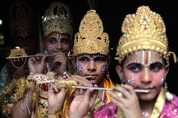 Krishna processions, janmasthami celebration in India, cheap flights to India, festivals of india