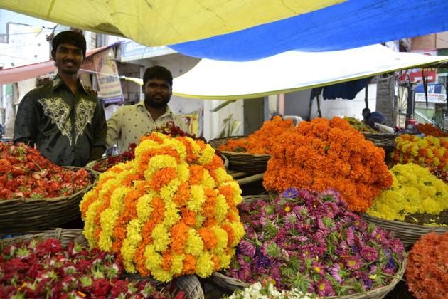 hyderabad flower market details, cheap airfare to hyderabad