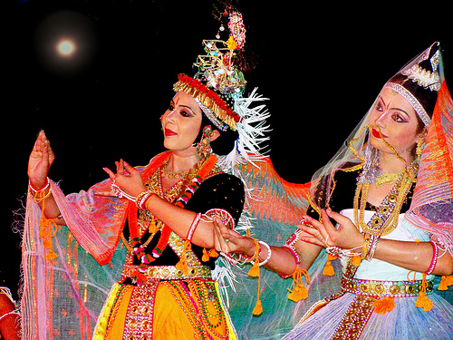 Ras lila in north India, Ras leela in Manipur, sharad purnima celebration in India
