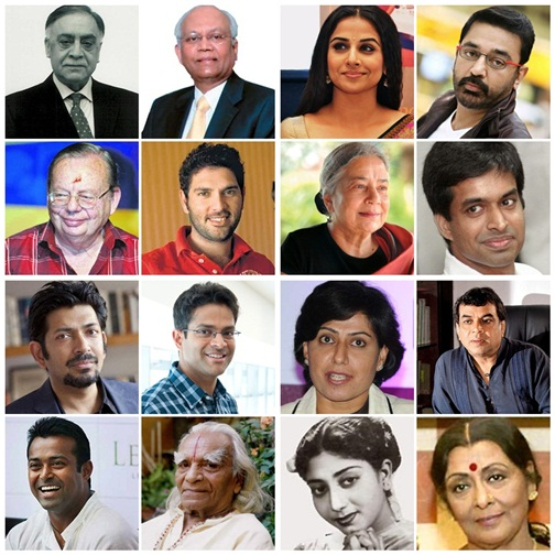 The recipients of Padma Bhushan, Padma Vibhushan and Padma Shri in 2014