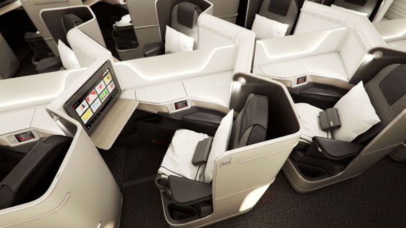 air canada boeing 787 dreamliner, international business class cabin seating, latest air canada news