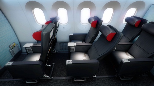 air canada boeing 787 dreamliner cabins, air canada premium economy class seating