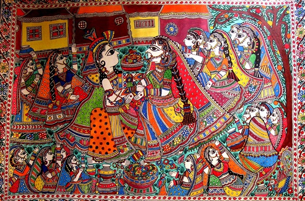 Interesting facts about madhubani painting rural indian art for Art of indian cuisine