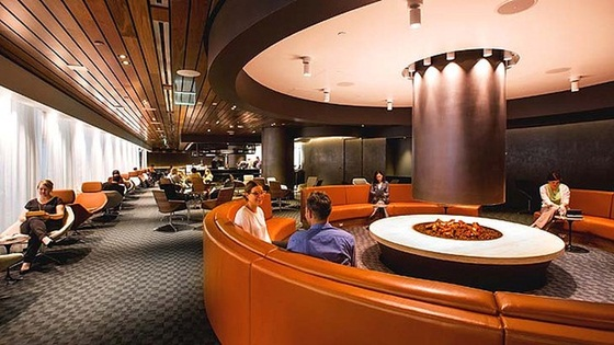 New luxury Business Lounge at Los Angeles International Airport