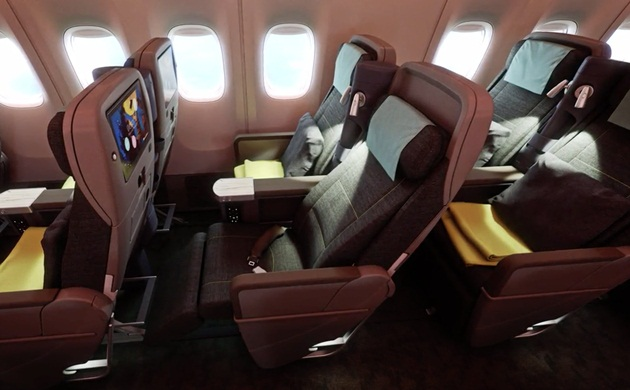 china airlines B777-300ER Premium Economy Cabin details, seats in China Airlines' premium economy,