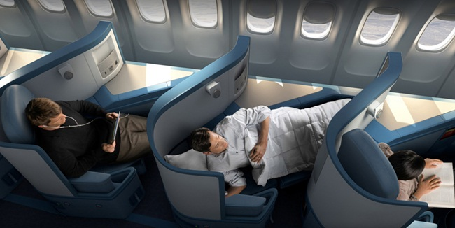 Delta airlines inflight services at five different fare for Delta main cabin vs delta comfort