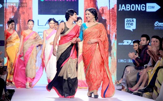 Mandira Bedi fashion shows, Shabana Azmi on ramp, IndianEagle travel
