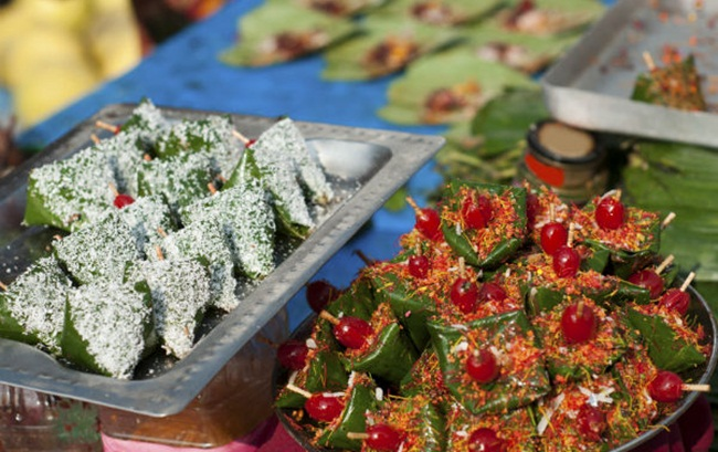 lucknow paan, local food lucknow, lucknow food guide