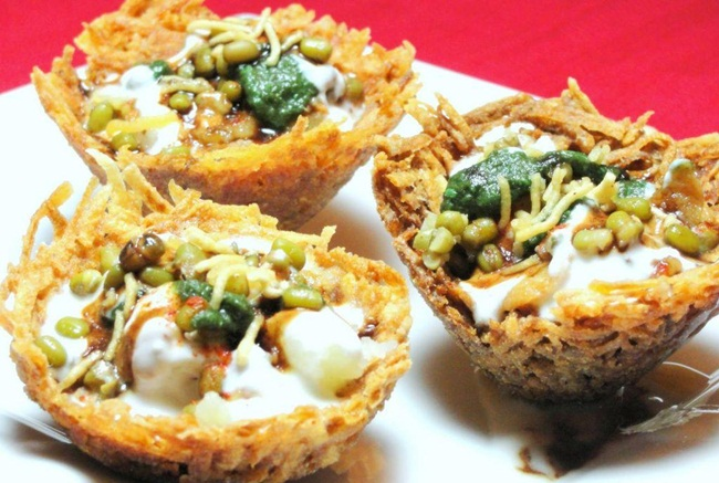 tokri chaat lucknow, places to eat in lucknow, best lucknow food