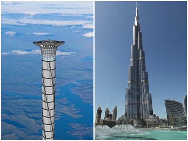 space elevator, Dubai Burj Khalifa, interesting facts, science fictions, IndianEagle travel