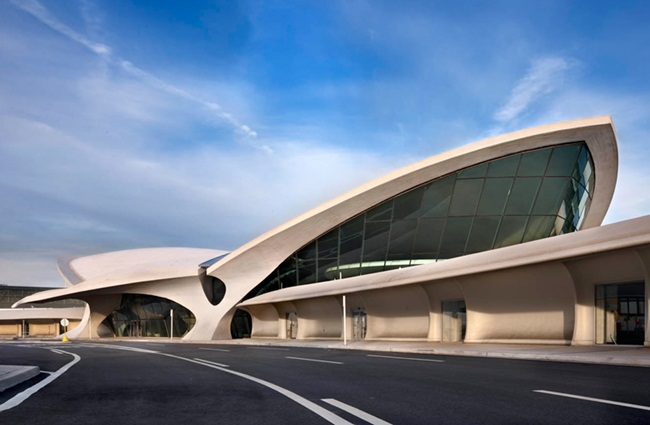 TWA flight center at JFK, Saarinen building, JetBlue TWA Hotel, IndianEagle travel