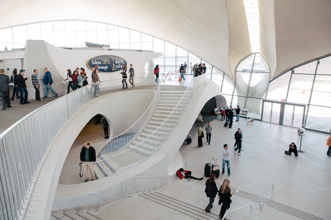 old TWA terminal at JFK, Saarinen Building, JetBlue's TWA hotel