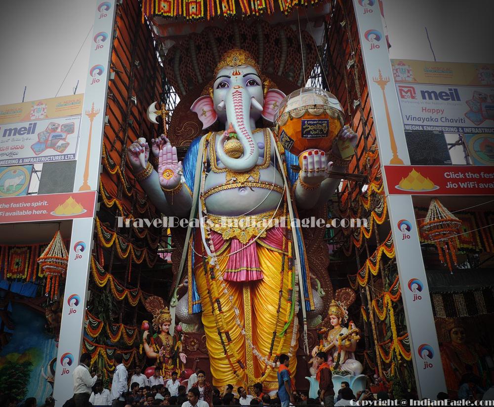 Mumbai Ganesh festival, Hyderabad Ganesh puja, Khairatabad Ganesh idol, IndianEagle