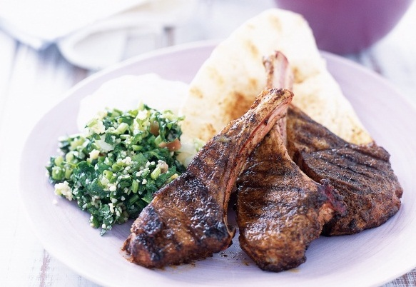 Recipe of Arabic Lamb Chop from Etihad Airways' Inflight Menu for First Class