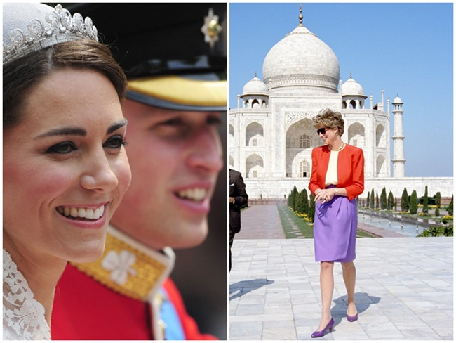 Prince William & Kate Middleton to Live 'Princess Diana' Moment at Taj Mahal in India