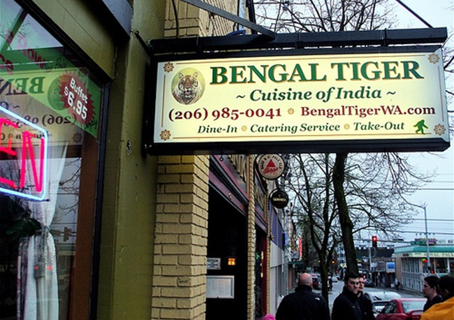 Bengal Tiger Seattle, Seattle Indian restaurants