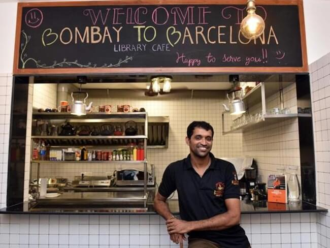 Newly Opened Bombay to Barcelona Library Café has Its Origin in Seedy Streets of Mumbai