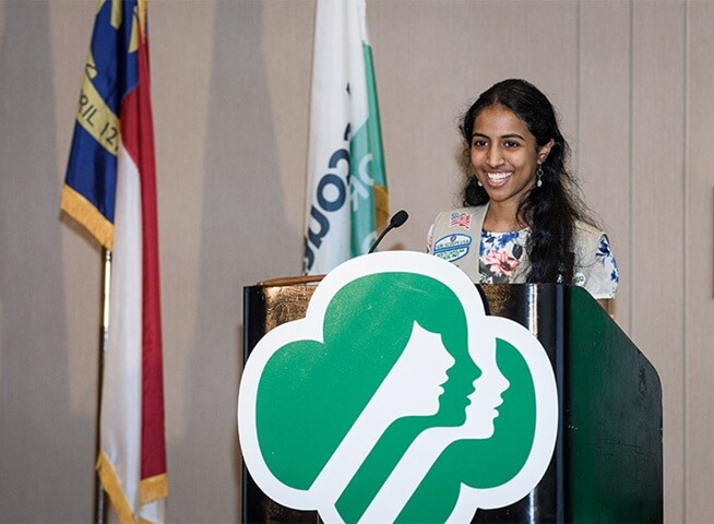 Indian American Sadhana Anantha is USA's National Young Woman of Distinction in Science This Year