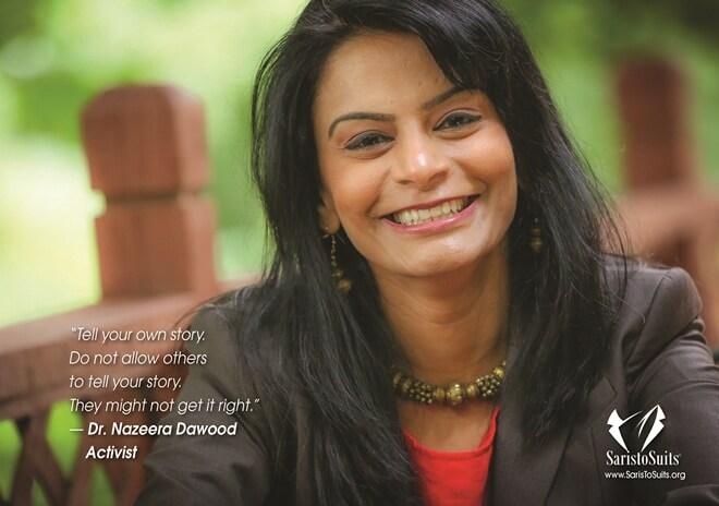 Dr. Nazeera Dawood, 2017 Saris to Suits Calendar, Atlanta Indians