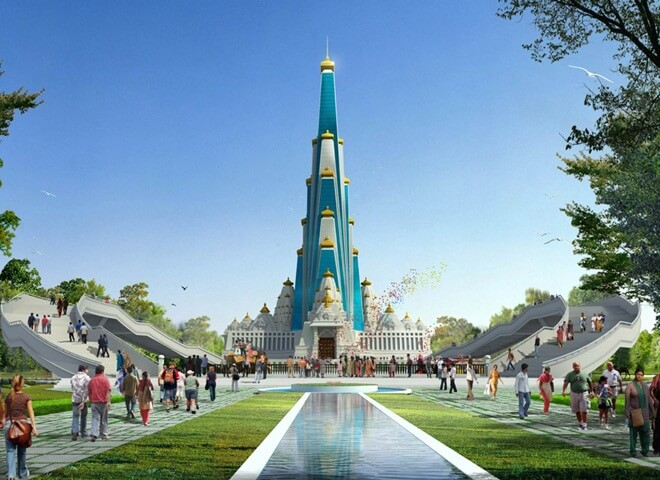 Interesting Facts about Vrindavan Chandrodaya Mandir in India: World's Tallest Temple under Construction