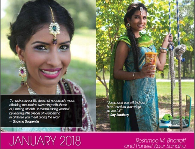 Indian American women, Saris to Suits Calendar, Patti Tripathi, IndianEagle