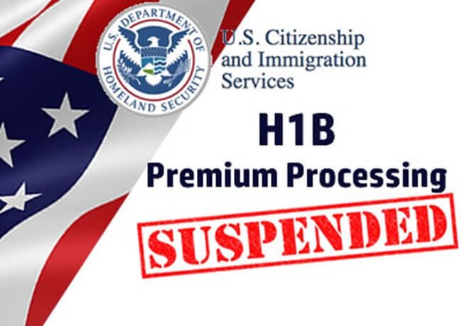USA Temporarily Suspends Premium Processing of H1B Visa Petitions from April 2017