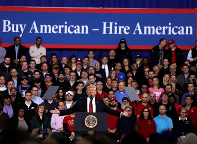 Trump Signs Executive Order on Buy American and Hire American to Keep His Electoral Promises