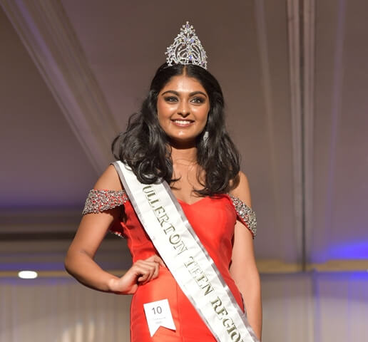 16-year-old Indian American Henna Sanghvi Wins 'Miss Fullerton Teen USA 2018' Title in California
