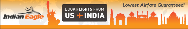 cheap flights to India, discount airfares, cheap fare deals, Indian Eagle travel