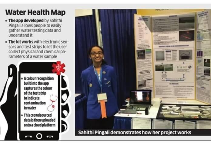 Bengluru girl Sahithi Pingali, bengaluru lake water pollution, young Indian achievers, inspiring stories
