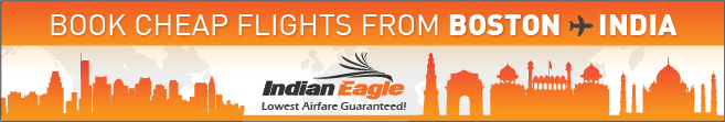 cheap Boston flights India, Indian Eagle travel, Indian Eagle discounts