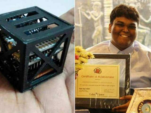 NASA Launches World's Lightest, Smallest Satellite Made by 18-year-old Indian Boy