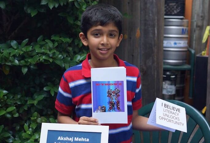 11-year-old Indian American Author Akshaj Mehta Named Youth Hero of the Year 2017