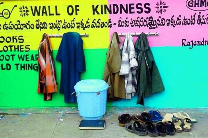 Wall of Kindness: India Embraces Innovation to Help the Poor with Basic Needs