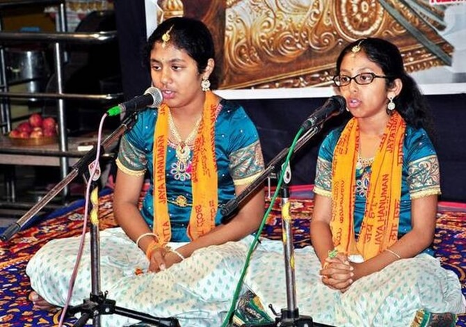 These California Indian American Girls Recite 700 Gita Slokas Nonstop from Memory
