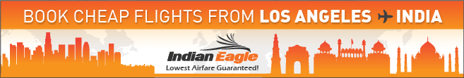 Indian Eagle Travel deals, Los Angeles to India flights, LAX India cheap flights