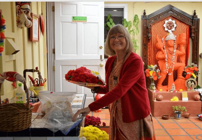 Elizabeth Usha Harginge, Laguna Beach Kali Temple, California Indians