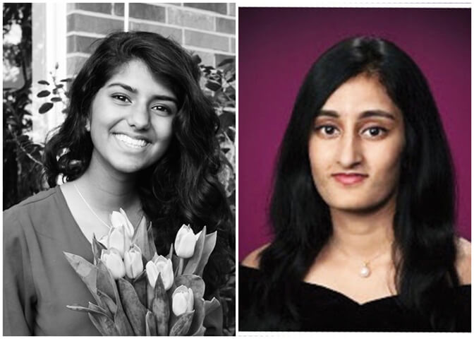 USA Honors Two Indian American Girls as National Young Women of Distinction 2017