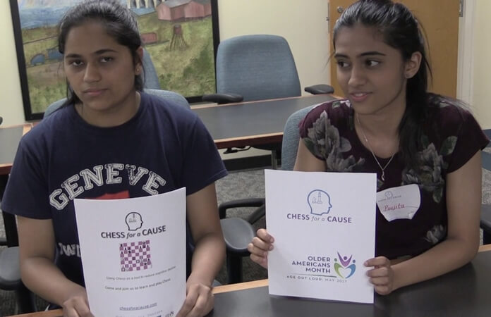 Chess for a Cause in Georgia: Two Indian American Girls' Initiative for Victims of Dementia in USA