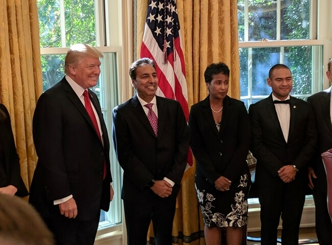 President Trump Honors Two Indian Americans with National Minority Business Awards 2017