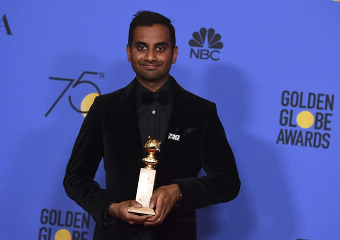 Indian American Aziz Ansari Wins Golden Globe Award for Best Male Actor in Master of None