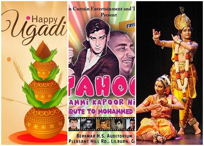 Greater Atlanta Indian Events in March: Women's Day, Ugaadi, Youth Fest, Bollywood, Charity